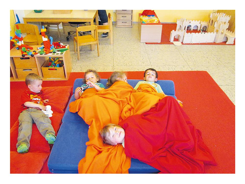 Kleiner Mittagsschlaf im Funktionsgruppenbereich